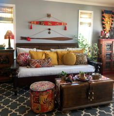 2020 promises to be a cusp year in decor with many old styles rapidly going out and new trends flouncing in.Learn what the best trends are, especially for Indian homes! Indian Room Decor, Ethnic Home Decor, Indian Home Interior, Indian Interiors, Bohemian Interior Design, Room Interior Design, Interior Designing, Living Room Decor Furniture, Living Room Interior