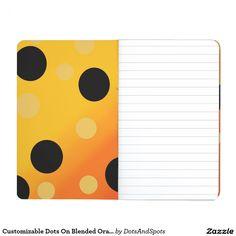 Customizable Dots On Blended OrangeToYellow Journal