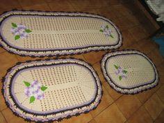 Jogo de passadeira de crochê barroco