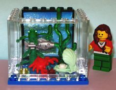 Lego Custom LG Fish Aquarium Animals Plant Pet Shop Crab Clam Sea Food Miniature | eBay
