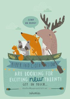 We're on the lookout for exciting new design talent! Whatever your design background, you'll own a portfolio brimming with enviable design . Children's Book Illustration, Character Illustration, Kids Poster, Cute Characters, Illustrations Posters, Vintage Illustrations, Cute Drawings, Nursery Art, Cute Art