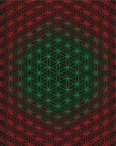Sacred Geometry, Platonic Solids, Torus, Vortex, Line Art, Wall Print, Wall Art, Meditation, Mandala, Simetry, DMT, Ayahuasca, Entheogens, Astral Projection, Flower of Life