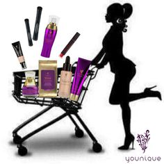 Fill up your shopping cart with Younique. www.LashOutFun.com