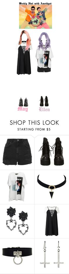 """Amethyst at Weekly Idol"" by amethyst-official ❤ liked on Polyvore featuring Topshop, UNIF, M.Y.O.B. and Miss Selfridge"