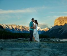That sunset! #mountainengagement #mountains #yyc #banff #engagement #markderryphotography