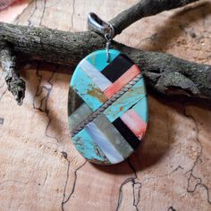 Authentic Native American Oval Turquoise Inlay by LanciaArts