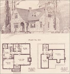 1924 English Revival - House plans - The Portland Telegram Plan Book ...