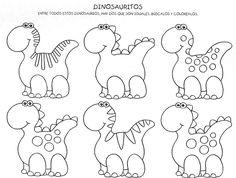 Completar desenho - Colorir dinossauros - Mais Educativo