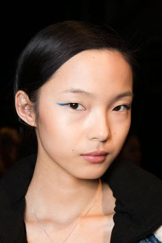 colored liner at Honor - another favorite beauty trend