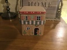 Novelty Sweet Tin | eBay Thatched House, Box Houses, Storage Containers, Tin, Sweet, Outdoor Decor, Hobbies, Ebay, Home Decor