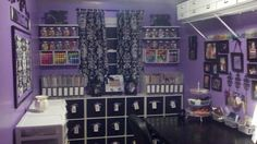 I want a purple Craft room
