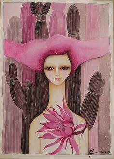 En lo árido florezco Acrílico sobre papel fabriano 25x35cm Artista: Melina Lioi