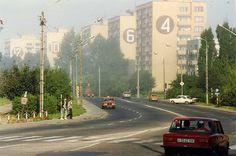 Misty morning in Elbląg, Poland, August 1990 /by sludgegulper /via Flickr