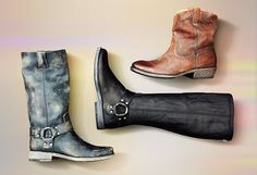 Three fall boots from Frye.