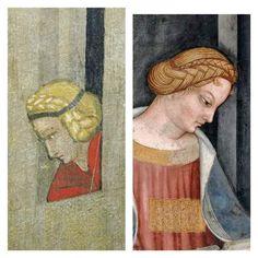 Renaissance Hat, Renaissance Hairstyles, Historical Hairstyles, Italian Renaissance, Art Illustrations, Illustration Art, 14th Century Clothing, Italian Hair, Head Coverings
