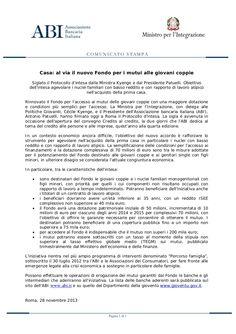 fondo-giovani-coppie-28112013 by Alberto Cardino - AGEVOFACILE via Slideshare