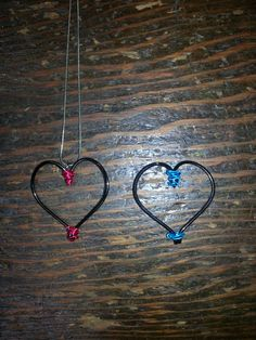 Real Fish Hooks Heart Necklace. Your Choice of Wire Color