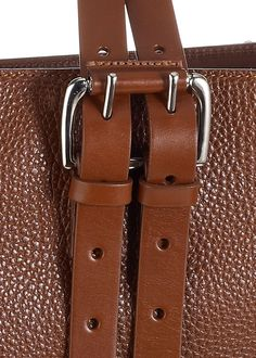 Details of the Ella Tote in Tobacco