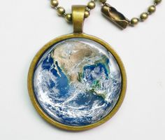 Planet Necklace - The Earth - Blue Marble