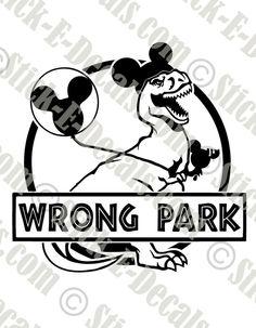 Cut from one color Oracal vinyl rolls. Funny Disney Shirts, Disney Vacation Shirts, Disneyland Shirts, Disney World Shirts, Disney Shirts For Family, Disney Trips, Disney Universal Studios, Universal Orlando, Jurassic Park Funny