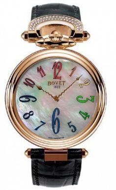 Женские часы Bovet HMS034-SD2 Chateau De Motiers Rainbow - золотые - швейцарские женские наручные часы