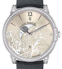 Женские часы Harry Winston Midnight Moon Phase – Симбиоз ювелирного и часового искусства | LuxuriousWatches.ru