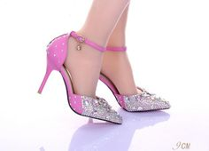 2016 Red Lace Bridal Shoes Almond Toe Platform Pumps With Thick Soles Silver With High Heels Sparkling Crystals Party Prom Evening Shoes Lace Bridal Shoes, Pink Wedding Shoes, Small Heel Shoes, Shoes Heels, Pink High Heels, Prom Heels, Traditional Wedding Dresses, Evening Shoes, Red Lace