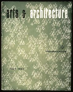 California Arts & Architecture July 1944 cover designed by Ray.