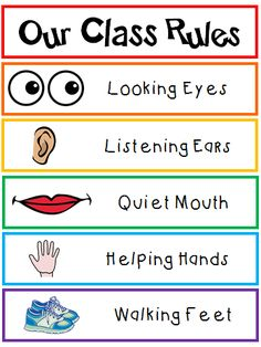 Our Class Rules poster that any Kindergarten student, pre-K student, Transitional Kindergarten student can all read! {FREEBIE} Our Class Rules poster that any Kindergarten student, pre-K student, Transitional Kindergarten student can all read! Classroom Setting, Future Classroom, Classroom Organization, Classroom Management, Stationary Organization, Behavior Management, Organization Ideas, Class Management, Class Rules Poster