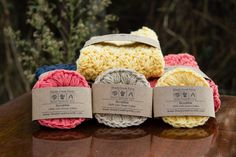 Scrubbies  set of 3 face scrubbies makeup by ShadyCreekFarmNC