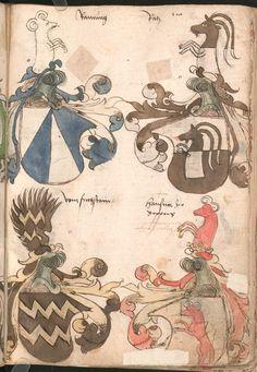 Wernigeroder (Schaffhausensches) Wappenbuch Süddeutschland, 4. Viertel 15. Jh. Cod.icon. 308 n  Folio 110r
