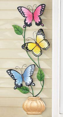 Climbing Butteflies Outdoor Wall Decoration
