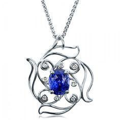 saphire jewlery | Custom Blue Sapphire Pendant | Joseph Jewelry Seattle Bellevue