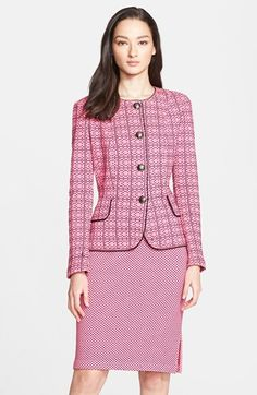 St.+John+Collection+Alternating+Dash+Knit+Jacket+available+at+#Nordstrom