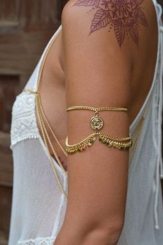 Ruby Arm cuff gold — Grace Bijoux