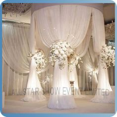 Online Shop adjustable white diameter tall double circle double upright of wedding pipe and drape pavilion for wedding arch, chuppah Wedding Ceremony Ideas, Ceremony Decorations, Wedding Venues, Wedding Ceremonies, Wedding Reception, Reception Ideas, Reception Design, Outdoor Decorations, Wedding Stage