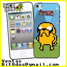 Case Jake de Hora de aventura en  #pixelart Te elaboramos cualquier diseño de videojuegos. Más información en bit8dos@gmail.com