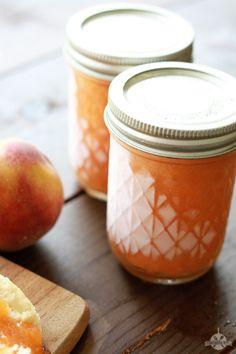 Peach Freezer Jam 2 Peach Freezer Jam, Freezer Jam Recipes, Freezer Cooking, Canning Recipes, Cooking Tips, Peach Jelly, Peach Jam, Jam And Jelly, Healthy Eating Tips
