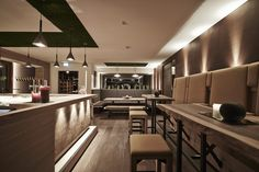 Bar im ARX Boutiquehotel // Bar in the ARX boutique hotel Restaurant Bar, Conference Room, Boutique, Table, Furniture, Home Decor, Decoration Home, Room Decor, Tables