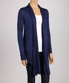 Another great find on #zulily! Navy Open Hi-Low Cardigan #zulilyfinds
