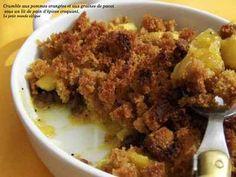 Recette - Compotée de pommes oranges et graines de pavot en crumble de pain d'épices | 750g