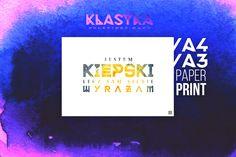 Jestem kiepski, lecz sam siebie wyrażam. – Plakat typograficzny. Klasyka polskiego rapu. Rap, Etsy, Poster, Wraps, Rap Music