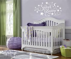 Sweet Dreams Nursery Decal Bedroom Decal by SimplyDecalsforYou