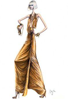 Algunas ilustraciones de moda de Arturo Elena