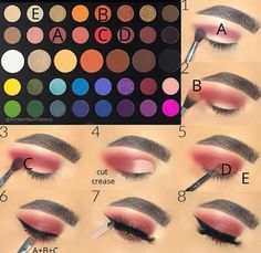 rosy red eye makeup look James Charles palette with morphe Loading. rosy red eye makeup look James Charles palette with morphe Red Eye Makeup, Makeup Eye Looks, Eye Makeup Steps, Makeup For Brown Eyes, Cute Makeup, Skin Makeup, Fall Makeup, Easy Eye Makeup, Winter Makeup