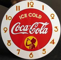 cloc face de coca cola - Buscar con Google Diy Crafts Slime, Slime Craft, Diy And Crafts, Clock Face Printable, Iphone Watch, Diy Clock, Mini Paintings, Old Antiques, Vintage Signs
