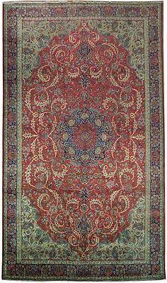 SEMI-ANTIQUE 11x18 Persian Tabriz Wool Rug International Reputation Style Rug