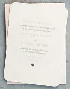 Vintage Minimalist Wedding Invitation Cards in Soft Pink. $2.75, via Etsy.
