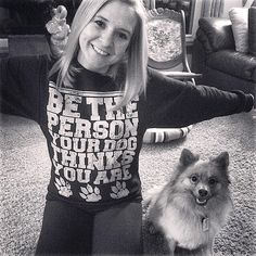 You can get our 'Be The Person' sweatshirt from the link in our profile! Photo by: brigette_j #animalhearted #animalheartedapparel