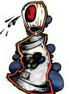 Graffiti Art Design: Graffiti Spray - Character Design Face